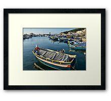 Mgarr Harbour Framed Print