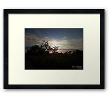 Playful sky's Framed Print