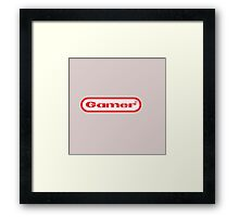 Gamer Shirt Design Framed Print