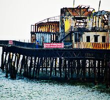 HASTINGS PIER REMAINS by scarlet james