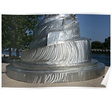 Metal Sculpture, St. Joseph, Michigan Poster