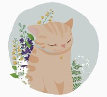 Cat with Flowers Kids Clothes