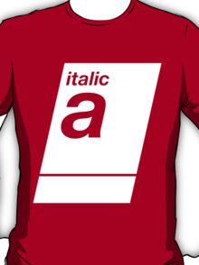 italic white T-Shirt