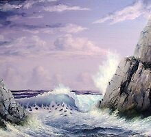 CRASHING WAVE by John Cocoris