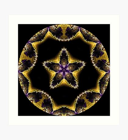 Flower Power Mandala Art Print