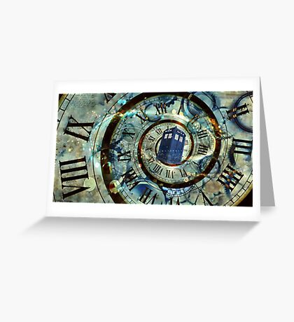 Tardis Lost in Time Greeting Card