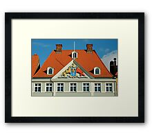 MVP22 Coat of Arms, Stralsund, Germany. Framed Print
