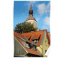 MVP03 Stralsund & Marienkirche, Germany. Poster