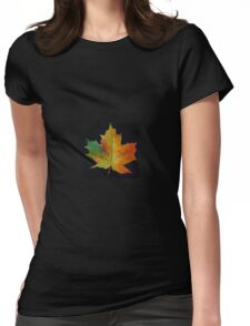 Red Maple Leaf Womens Fitted T-Shirt