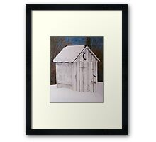 Snowed in Outhouse Framed Print