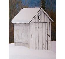 Snowed in Outhouse Photographic Print