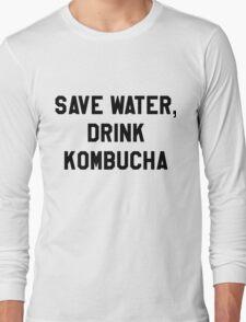 Save Water, Drink Kombucha Trendy/Hipster Meme Long Sleeve T-Shirt