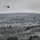 Hobbyist helicopter over the Downs by Guy Carpenter