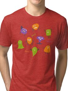 Colorful funny monsters Tri-blend T-Shirt