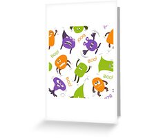 Colorful funny monsters Greeting Card