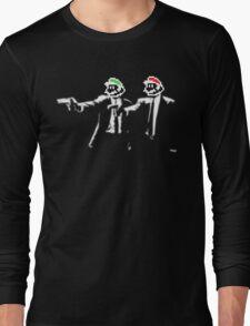 Plumber Fiction - Pulp Fiction x Super Mario Parody Long Sleeve T-Shirt