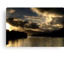 Lough Leanne Sunset Canvas Print