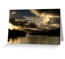 Lough Leanne Sunset Greeting Card