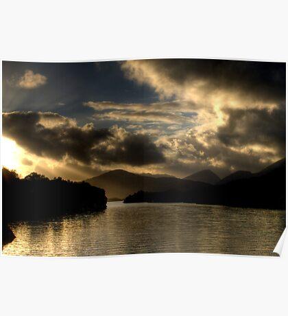 Lough Leanne Sunset Poster