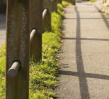 fence and shadow  by yampy
