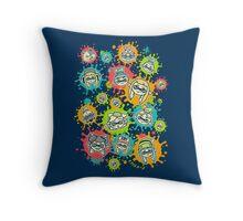 Splat Festival Throw Pillow