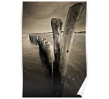 Wooden Poles Poster