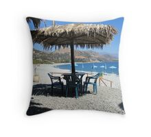 A place to sit and dream. Throw Pillow