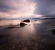 Sunset over the Kilbrannan sound - Isle of Arran by Kirstie Smith