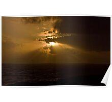 Newport, Oregon Sunset Poster