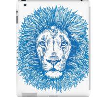 blue line lion iPad Case/Skin