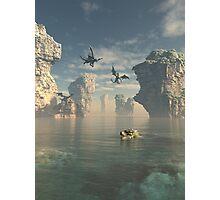 Dragon Cliffs Photographic Print