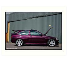 Escort Cosworth Monte - Side Shot Art Print