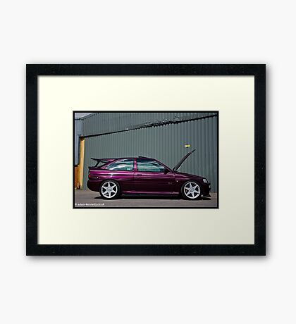 Escort Cosworth Monte - Side Shot Framed Print