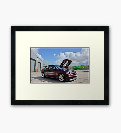Escort Cosworth Monte - Front 3/4 Shot Framed Print