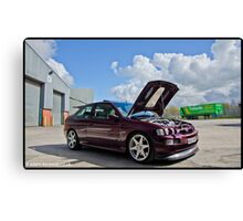 Escort Cosworth Monte - Front 3/4 Shot Canvas Print