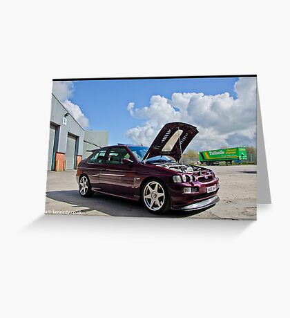 Escort Cosworth Monte - Front 3/4 Shot Greeting Card