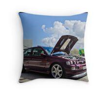 Escort Cosworth Monte - Front 3/4 Shot Throw Pillow