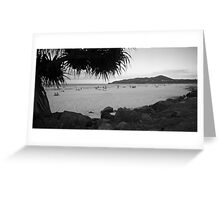 Byron bay beach bw Greeting Card