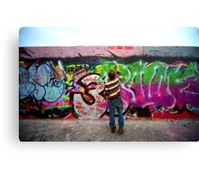 Berlin, painting on the Wall Canvas Print