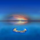 Sunset over Molokini in Hawaii by Bruno Beach