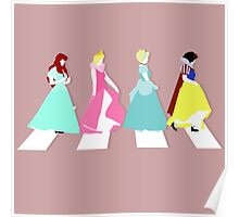 Princesses on Abbey Road Poster