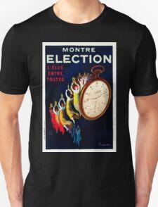 Leonetto Cappiello Affiche Montre Élection Unisex T-Shirt