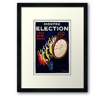 Leonetto Cappiello Affiche Montre Élection Framed Print