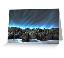 Alpine skies Greeting Card