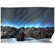 Alpine skies Poster