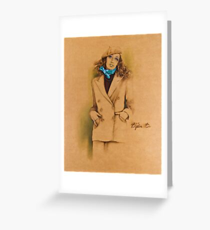 French Beret Greeting Card