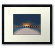 Sunset at tahiti Framed Print