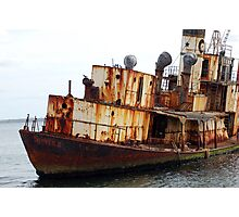 A Rusting Whaling Ship Photographic Print
