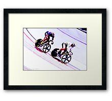 sprint for victory Framed Print