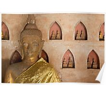 Buddha with calm eyes. Poster